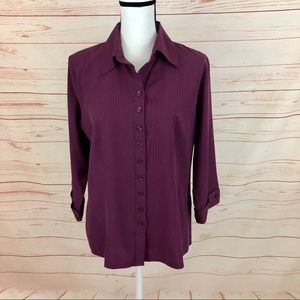 Dress Barn Pinstriped Button Down Shirt